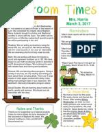 march 3 newsletter