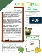 march 10 newsletter