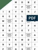 Alphabet's Bingo