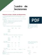 Cuadro de Decisiones