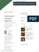 Historia de La Literatura Argentina - El Sur Del Sur