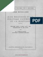 Bataillard, P. - Jean Bratiano Et La Pol. Extérieure de RO (1891)