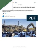 Sobe Para 46 o Número de Mortos Em Deslizamento de Lixo Na Etiópia _ Mundo _ G1