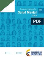 Encuesta Nacional de Salud Mental Tomo II