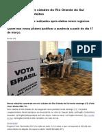 G1 - Moradores de Seis Cidades Do Rio Grande Do Sul Elegem Novos Prefeitos - Notícias Em Rio Grande Do Sul