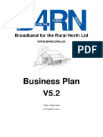 Broadband Biz Plan for community collective broadband financing  installation and management