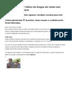 G1 - Dupla é Presa Por Tráfico de Drogas Em Motel Com Menor Em São Roque - Notícias Em Sorocaba e Jundiaí