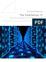 Treacherous 12 Cloud Computing Top Threats