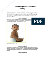 periods of development fact sheet- infancy