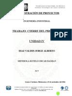 Cierre Del Proyecto - Mendiola Sotelo Oscar Damian 51 V