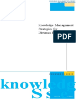 Knowledge-Management Strategies for Distance Education