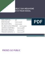 Pertemuan 2 - Go Public Dan Mekanisme Perdagangan Di Pasar Modal