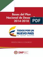 Plan Nacional de Desarrollo 2014 - 2018 Todos Por Un Nuevo Pais