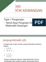 2. Teknik Asas Pengiraan Dalam Matematik Kewangan