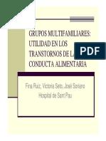 Grupos Multifamiliares, Utilidad en Los Trastornos de TCA - Soriano-63-15Nov11