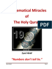 The Mathematical Miracles of the Holy Quran