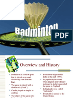 BADMINTON Power Point Presentation