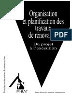 Organisation Et Planification Des Travaux de Rénovation - Du Projet à l'Exécution