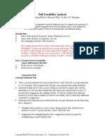 toa full feasibility analysis