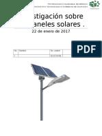 Investigación de Paneles Solares en ITESI