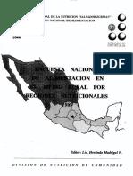 México. Encuesta Nacional de Alimentación en el medio rural 1989