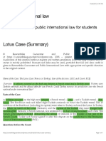 Lotus Case (Summary) | Public International law