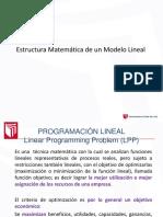 estructura matematica de un modelo lineal