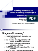 Science Investigatory Projects Training Workshop 2014