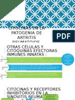 Citocinas en La Patogenia de Artritis Reumatoide