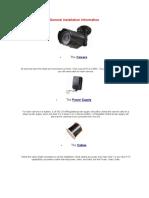 General Installation Information