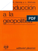 Hennig, R & Körholz, L - Introducción a La Geopolítica