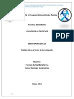 Artículo Fisioterapéutica I