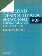 Tenzer, Nicolas - La Sociedad Despolitizada