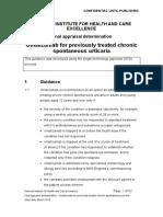 Omalizumab for Urtikaria
