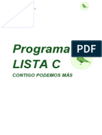 Programa Lista c
