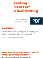 using assessments for student-goal setting