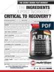 A.R.M. (Anabolic Recovery Matrix) - ARE ALL THE INGREDIENTS IN YOUR POST WORKOUT CRITICAL TO RECOVERY?