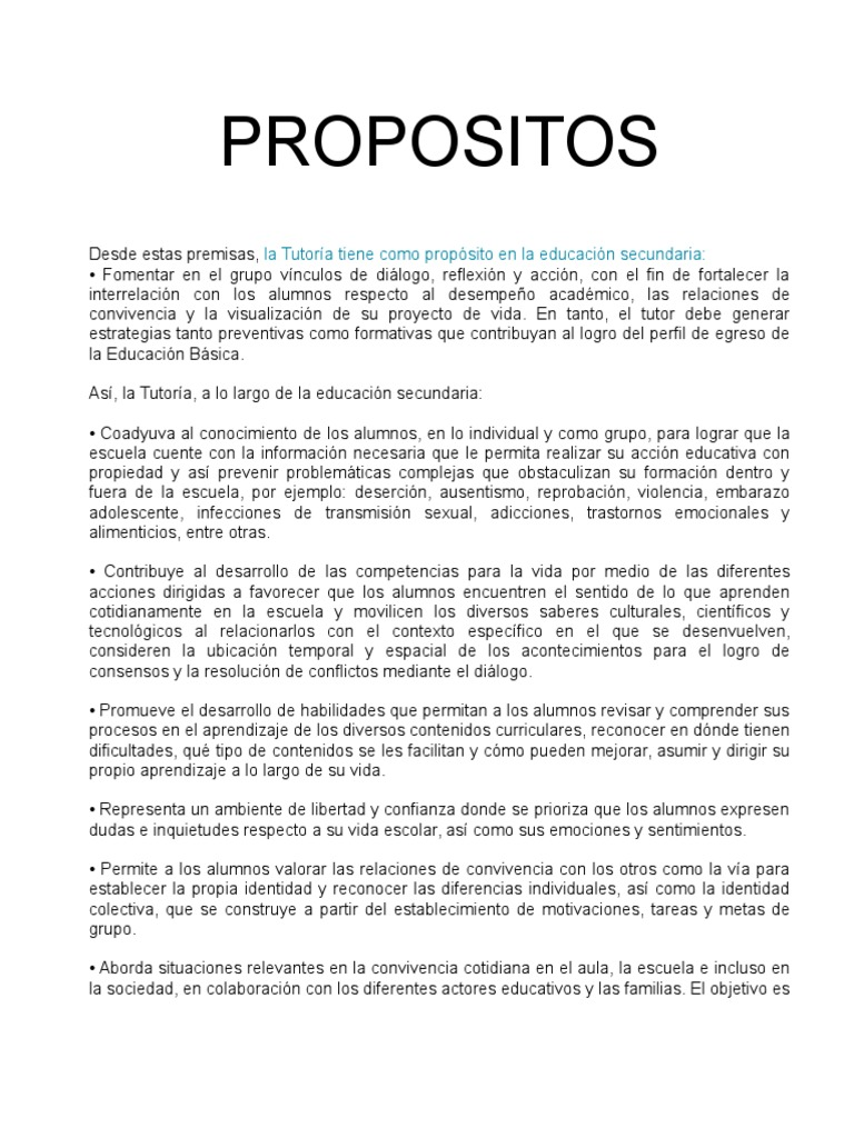 Propositos Plan Anual