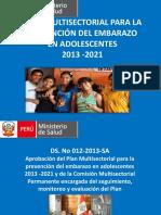 Plan de Prevención Del Embarazo en Adolescentes 13 01 14
