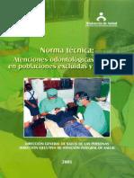 Norma Técnica Atención Odontológica Básica en Poblaciones Excluidas y Dispersas