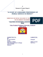 h r consumer preferance of mobile service in meerut.doc