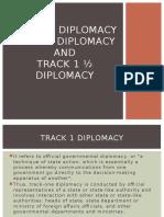 Track 2 Diplomacy Report