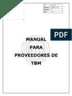 Manual de Proveedores de TBM 2012