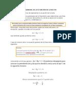 Forma General de La Ecuación de La Recta
