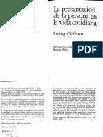 323084312 Goffman Erving La Presentacion de Persona en La Vida Cotidiana PDF (Arrastrado)