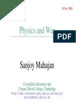 Physics and War Sanjoy Mahajan