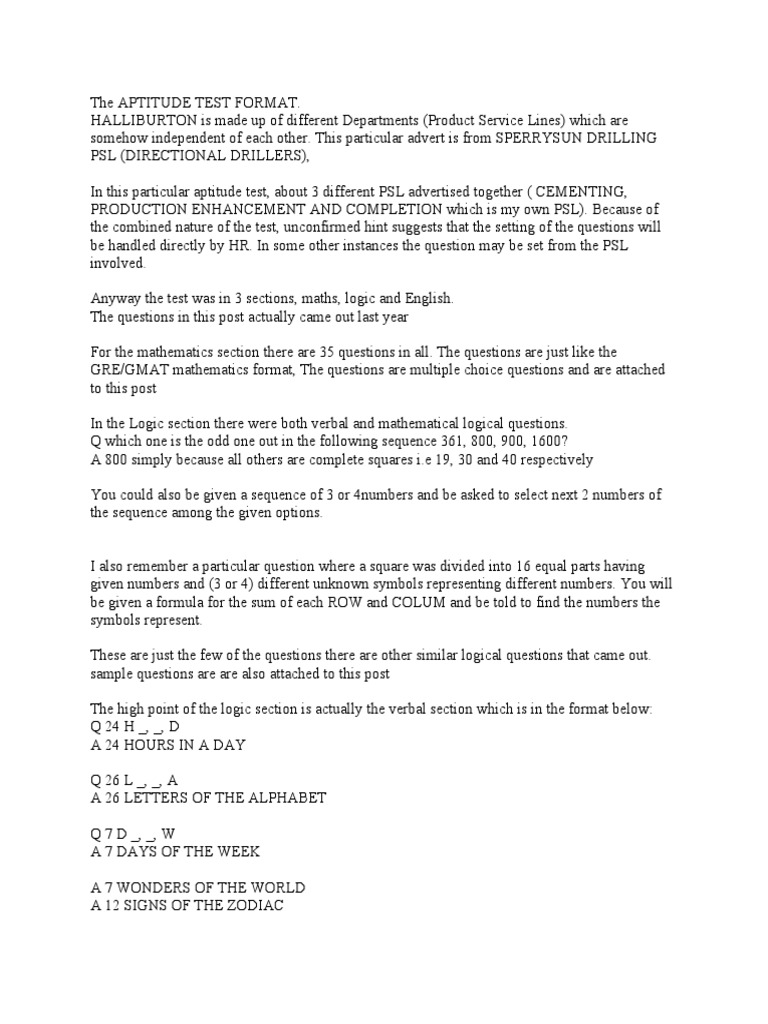 184380189 halliburton aptitude test formatpdf test assessment 184380189 halliburton aptitude test formatpdf test assessment mathematics biocorpaavc Image collections