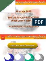 100 dni Wiceprezydent Wiesławy Zewald