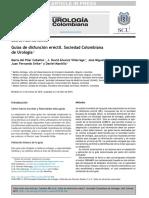 Guías de Disfunción Eréctil. Sociedad Colombiana de Urología