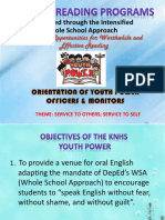 yp officers and monitors orientation | Further Education | Personal